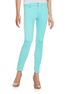 J BRAND Low-Rise Cropped Skinny Jeans