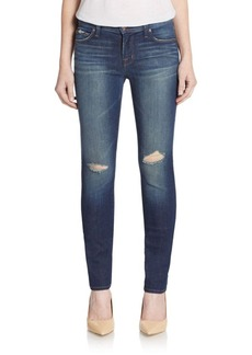 J BRAND Mid-Rise Distressed Skinny Jeans