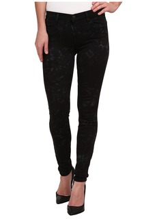 J Brand Mid Rise Printed Super Skinny in Shattered Glass