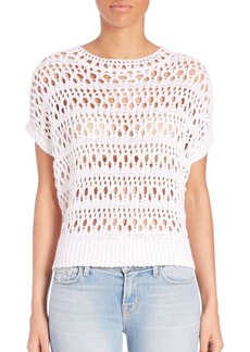 J BRAND Open-Knit Top