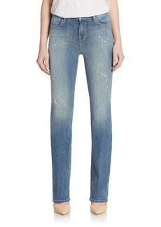 J BRAND Remy High-Rise Distressed Bootcut Jeans