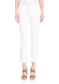 J BRAND Selena Sateen Mid-Rise Cropped Bootcut Jeans