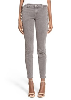 J Brand 'Zion' Button Pocket Crop Skinny Jeans (Distressed Silver Fox)