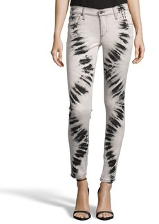 James Jeans acid grey tie-dye stretch denim ...