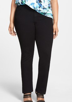James Jeans 'Hunter Z' Stretch Straight Leg Jeans (Black Clean) (Plus Size)