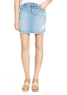 James Jeans Scallop Hem Cutoff Denim Skirt (Joy Ride)