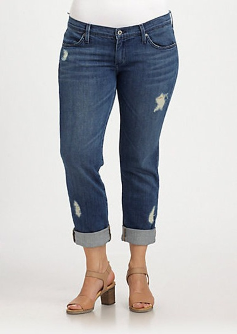 James Jeans, Sizes 14-24 Neo-Beau Distressed Wimbledon Jeans