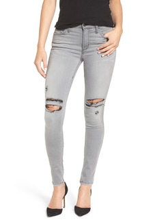 James Jeans 'Twiggy' Ripped Skinny Jeans (Goddess)
