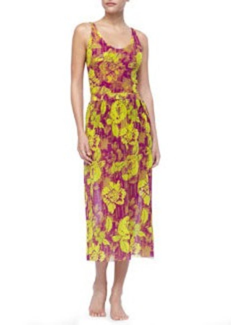 Jean Paul Gaultier Floral-Print Chiffon Skirt   Floral-Print Chiffon Skirt