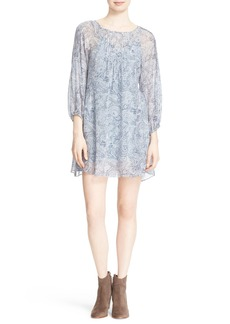 Joie 'Achroite' Paisley Print Silk Georgette Dress