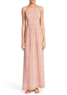 Joie 'Agua' Print Silk Maxi Dress