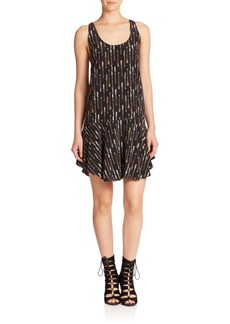 Joie Arianna Printed Silk Racerback Dress