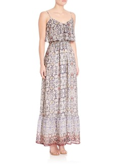 Joie Balla Tile Paisley Print Maxi Dress