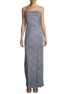 Joie Dalila Printed Strapless Maxi Dress