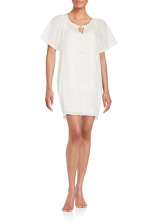 Joie Deleon Embroidered Cotton Dress