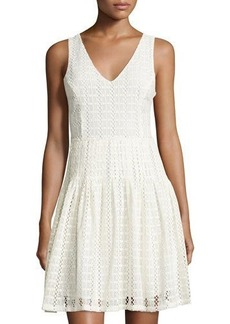 Joie Pruitt Eyelet Fit-and-Flare Dress
