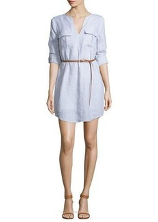 Joie Rathana Chambray Belted Dress