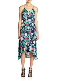 Joie Ruzenza Floral-Print Silk Dress