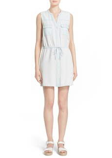 Soft Joie 'Tawna' Sleeveless Chambray Shirtdress