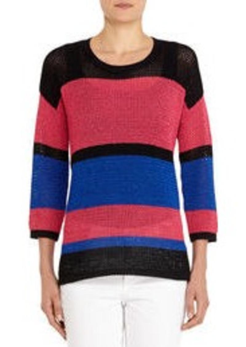 Jones New York 3/4 Sleeve Mesh Tunic Sweater