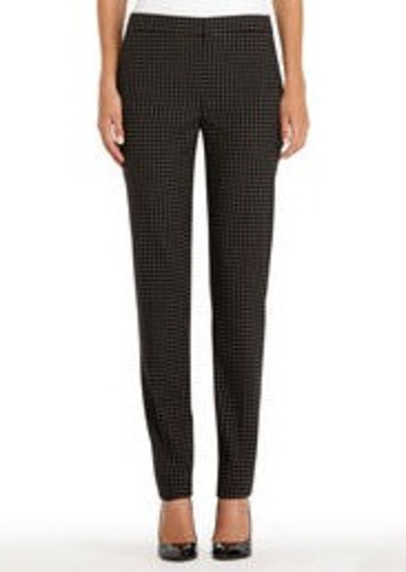 Jones New York Black and Ivory Tattersall Pants