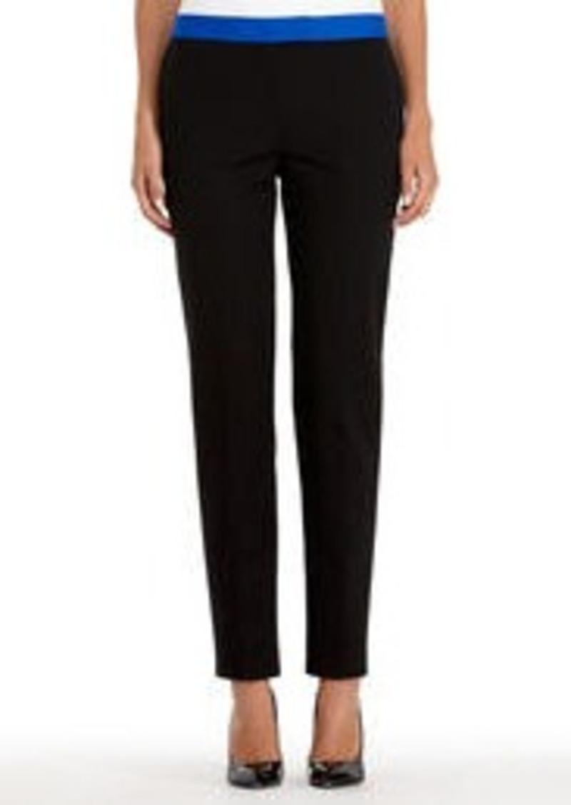 Jones New York Black Stretch Cotton Slim Dress Pants (Petite)