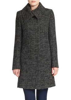 JONES NEW YORK Chunky Tweed Wool-Blend Coat
