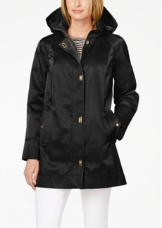 Jones New York Water-Resistant Hooded Turn-Lock Coat