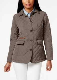 Jones New York Petite Packable Button-Down Quilted Coat