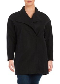 JONES NEW YORK PLUS Plus Wool-Blend Oversized Collar Coat
