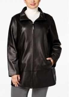 Jones New York Plus Size Leather Jacket
