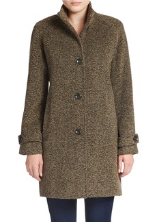 JONES NEW YORK Single-Breasted Wool-Blend Coat