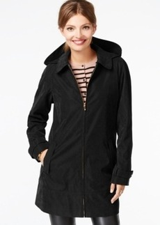 Jones New York Water-Resistant Hooded Raincoat