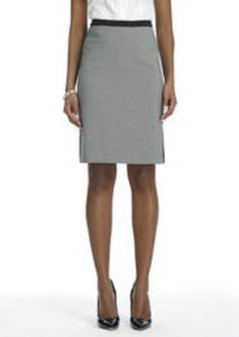 Jones New York Mini-Check Skirt