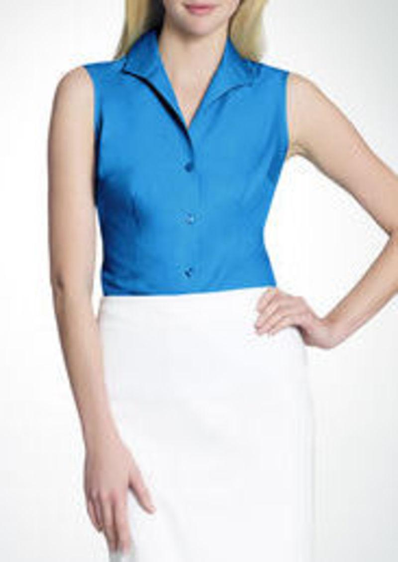 Jones New York No-Iron Easy-Care Fitted Sleeveless Shirt