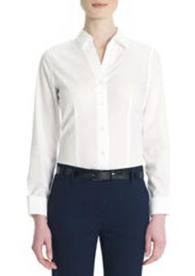 Jones New York Non-Iron, Easy-Care Cotton Shirt