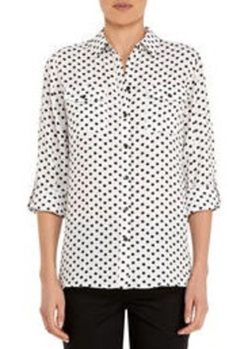Jones New York Safari Shirt with Roll Sleeves (Petite)