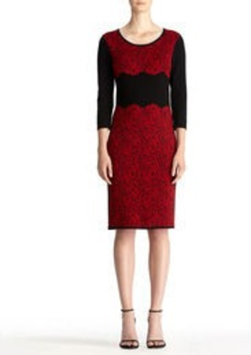 Jones New York Sweater Dress with Floral Front