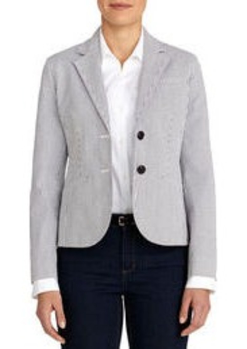 Jones New York The Olivia Seersucker Two-Button Blazer