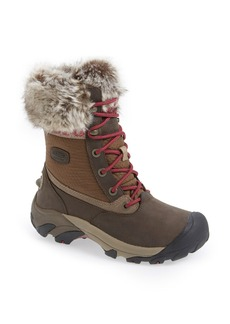 Keen 'Hoodoo III Low' Faux Fur Trim Waterproof Boot (Women)