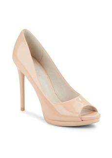 Kenneth Cole Giselle H6 Patent Leather Peep-Toe Pumps