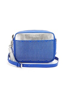 KENNETH COLE NEW YORK Dover Street Leather Perforated Crossbody Bag