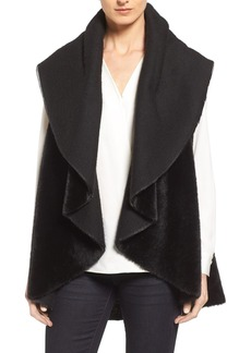 Kenneth Cole New York Drape Faux Fur Vest