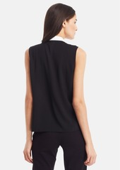 Kenneth Cole New York 'Floriane' Zip Front Colorblock Blouse (Petite)