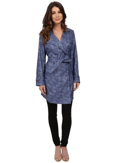 Kenneth Cole New York Printed Trench Coat
