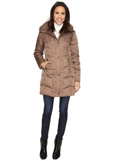 Kenneth Cole New York Quilted Down Walker with Faux Fur Trim Hood