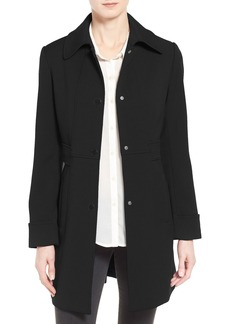 Kenneth Cole New York Waist Detail Oxford Ponte Coat
