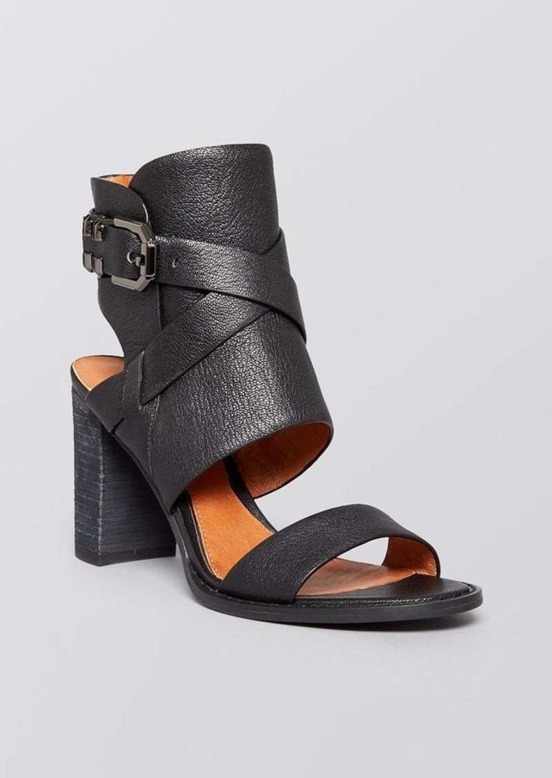 Kenneth Cole Open Toe Ankle Cuff Sandals - La Salle Block Heel