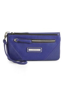 KENNETH COLE REACTION Faux Leather Wristlet