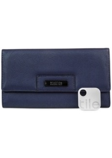 Kenneth Cole Reaction Never Let Go Trifold Flap Clutch with Rfid and Tracker